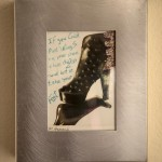 "Foot Wings. 4x5"" Polaroid with ink. Metal frame. $125 SALE $97"