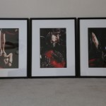 Existential Clown. Triptych. 3 individual frames make up this one art piece. $870