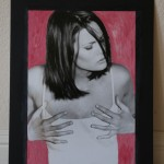 Playgirl. Hand painted black and white print. $187